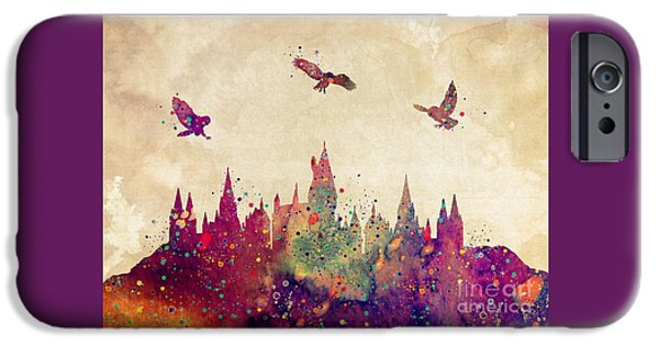 Castle iPhone 6s Case - Hogwarts Castle Watercolor Art Print by Svetla Tancheva
