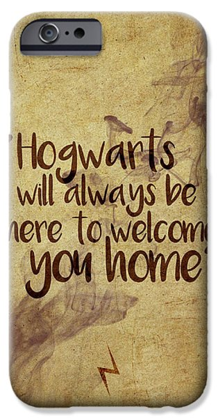Wizard iPhone 6s Case - Hogwarts Is Home by Samuel Whitton