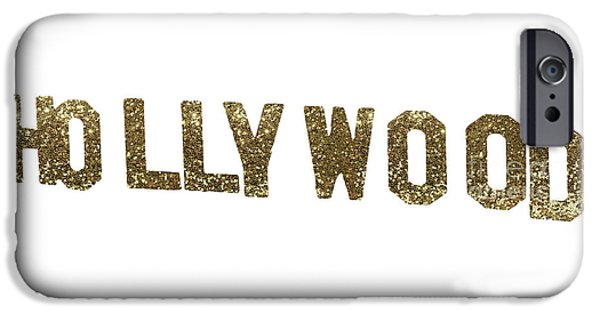 Beverly Hills iPhone 6s Case - Hollywood Gold Glitter Sign by Mindy Sommers