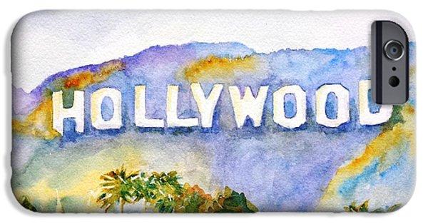 Hollywood iPhone 6s Case - Hollywood Sign California by Carlin Blahnik CarlinArtWatercolor