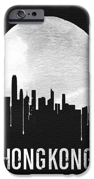 Hong Kong Skyline Black IPhone 6s Case by Naxart Studio