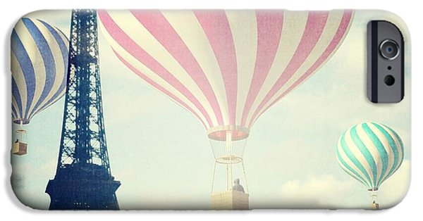 Teal iPhone 6s Case - Hot Air Balloons In Paris by Marianna Mills