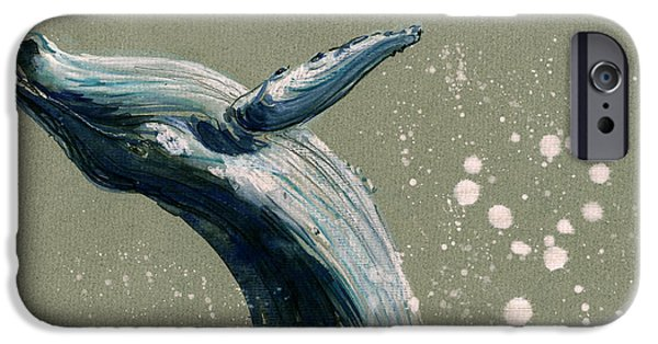 Humpback Whale Swimming IPhone 6s Case by Juan  Bosco