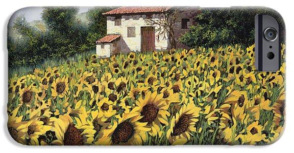 Sunflower iPhone 6s Case - I Girasoli Nel Campo by Guido Borelli