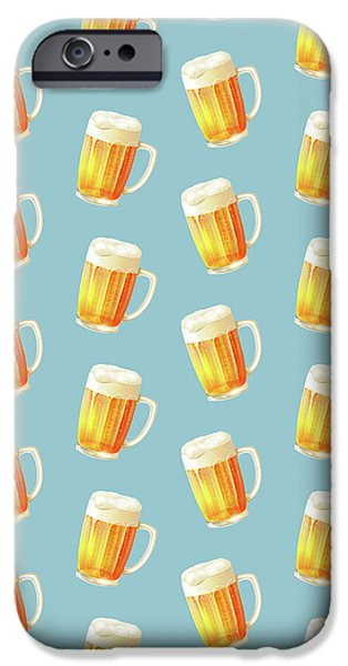 Ice Cold Beer Pattern IPhone 6s Case by Little Bunny Sunshine