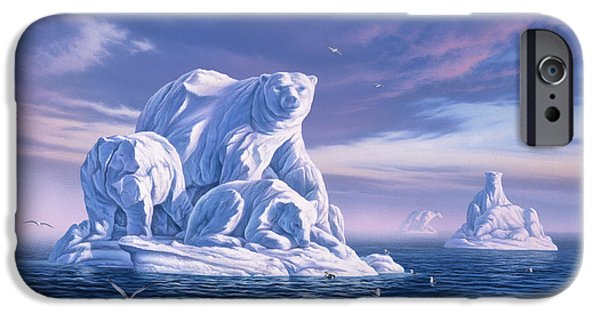 Polar Bear iPhone 6s Case - Icebeargs by Jerry LoFaro
