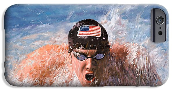 Swimming iPhone 6s Case - Il Nuotatore by Guido Borelli