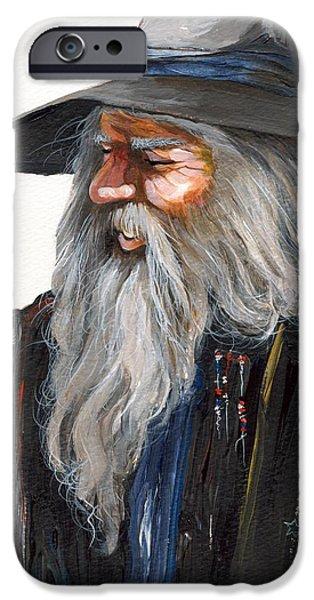Wizard iPhone 6s Case - Impressionist Wizard by J W Baker