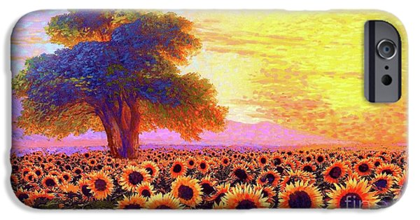 Sunflower iPhone 6s Case - In Awe Of Sunflowers, Sunset Fields by Jane Small