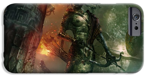 Gorgon iPhone 6s Case - In The Lair Of The Gorgon by Ryan Barger