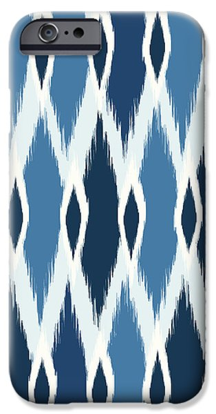 Indigo Ikat IPhone 6s Case by Arte Flora Design Studio