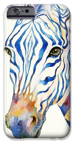 Intense Blue Zebra IPhone 6s Case by Arti Chauhan