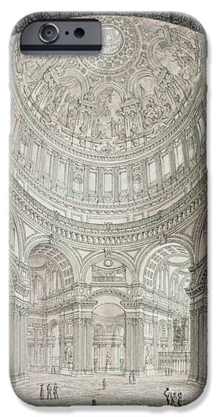 Interior Of Saint Pauls Cathedral IPhone 6s Case by John Coney