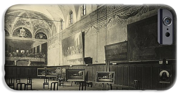 Interior Of The Dining Hall Of The Church Of Santa Maria Delle Grazie Milan IPhone Case by Alinari
