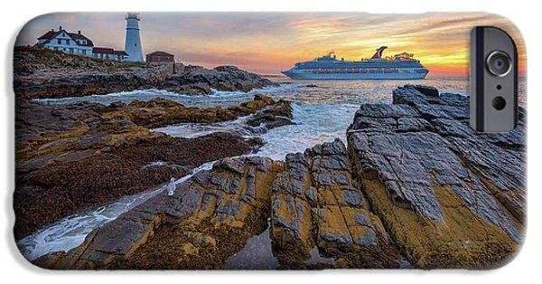 Cruise Ship iPhone 6s Case - Into Portland Harbor by Rick Berk