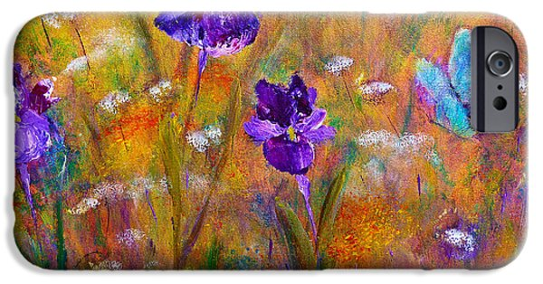 Iris Wildflowers And Butterfly IPhone 6s Case