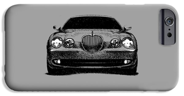 Jaguar S Type IPhone Case by Mark Rogan