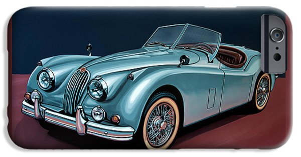 Swallow iPhone 6s Case - Jaguar Xk140 1954 Painting by Paul Meijering