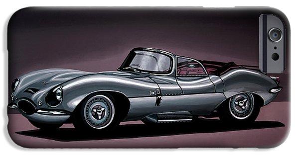 Swallow iPhone 6s Case - Jaguar Xkss 1957 Painting by Paul Meijering