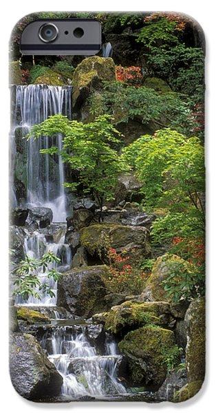 Japanese Garden Waterfall IPhone Case by Sandra Bronstein