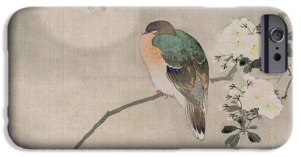 Japanese Silk Painting Of A Wood Pigeon IPhone 6s Case by Japanese School