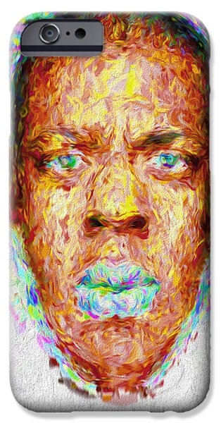 Jay Z Painted Digitally 2 IPhone 6s Case by David Haskett