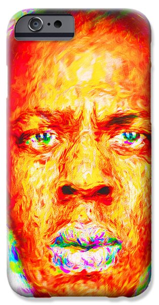 Jay-z Shawn Carter Digitally Painted IPhone 6s Case by David Haskett