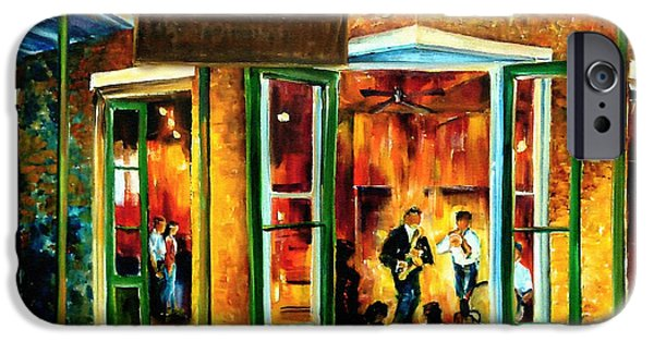 Jazz At The Maison Bourbon IPhone Case by Diane Millsap