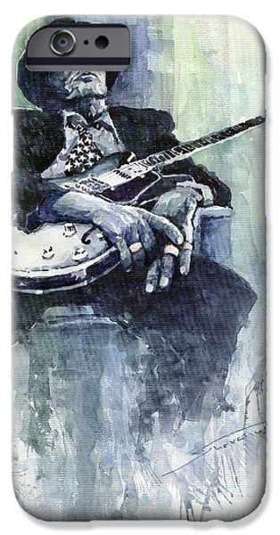 Jazz iPhone 6s Case - Jazz Bluesman John Lee Hooker 04 by Yuriy Shevchuk