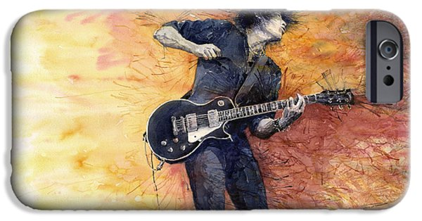 Jazz iPhone 6s Case - Jazz Rock Guitarist Stone Temple Pilots by Yuriy Shevchuk
