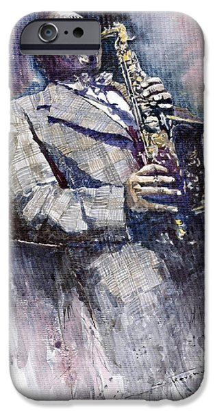 Jazz iPhone 6s Case - Jazz Saxophonist Charlie Parker by Yuriy Shevchuk
