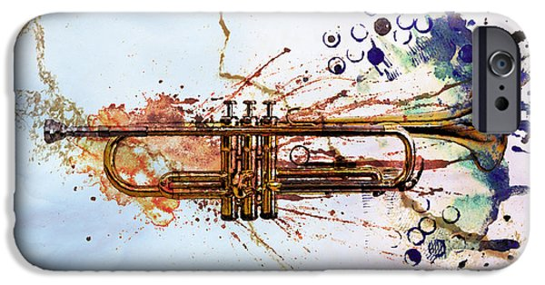 Music iPhone 6s Case - Jazz Trumpet by David Ridley