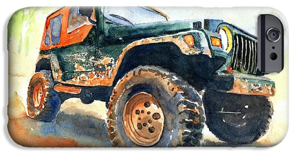 Car iPhone 6s Case - Jeep Wrangler Watercolor by Carlin Blahnik CarlinArtWatercolor