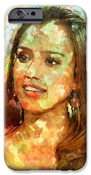 Jessica Alba IPhone 6s Case by Elena Kosvincheva