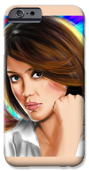 Jessica Alba IPhone 6s Case by Isaac Martinez