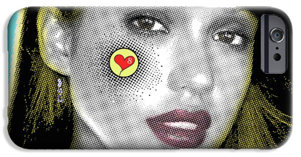Jessica Alba Pop Art, Portrait, Contemporary Art On Canvas, Famous Celebrities IPhone 6s Case
