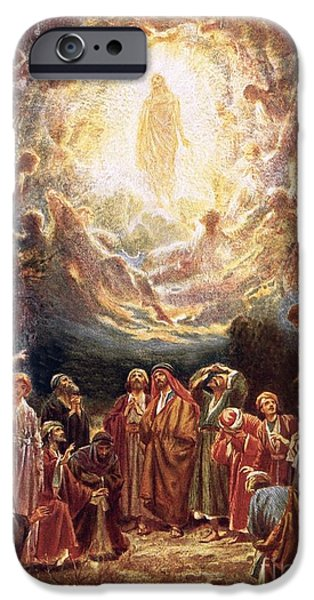 Jesus Ascending Into Heaven IPhone Case by William Brassey Hole