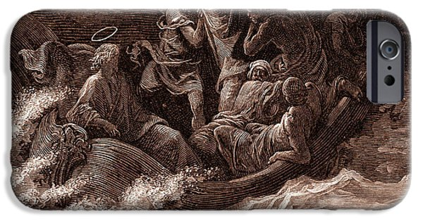 Jesus Stilling The Tempest IPhone 6s Case by Gustave Dore