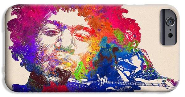 Jimi Hendrix Print IPhone 6s Case