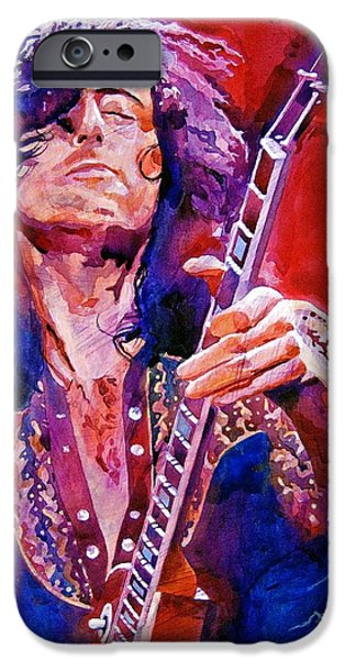 Musicians iPhone 6s Case - Jimmy Page by David Lloyd Glover