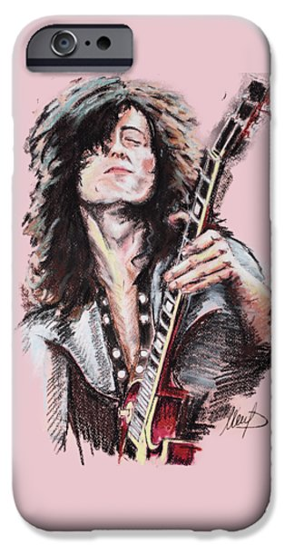 Jimmy Page IPhone 6s Case by Melanie D