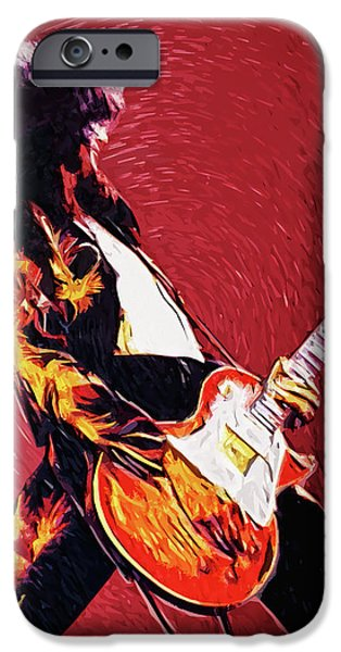 Robert Plant iPhone 6s Case - Jimmy Page  by Taylan Apukovska