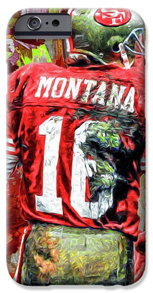 Joe Montana Football Digital Fantasy Painting San Francisco 49ers IPhone 6s Case by David Haskett