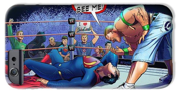 John Cena Vs Superman IPhone 6s Case by Khaled Alsabouni
