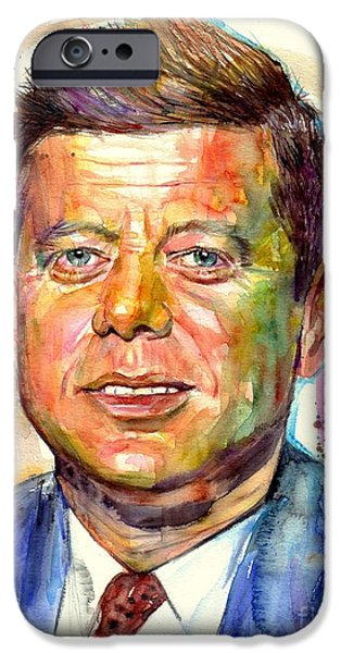 Harvard iPhone 6s Case - John F. Kennedy Painting by Suzann's Art