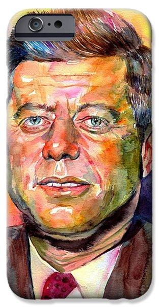 Harvard iPhone 6s Case - John F. Kennedy Watercolor by Suzann's Art