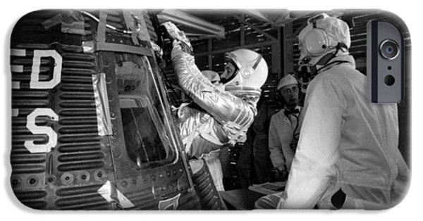 John Glenn Entering Friendship 7 Spacecraft IPhone 6s Case by War Is Hell Store