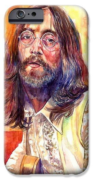 Rolling Stone Magazine iPhone 6s Case - John Lennon Watercolor by Suzann's Art