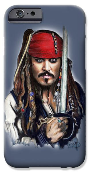 Johnny Depp As Jack Sparrow IPhone 6s Case by Melanie D