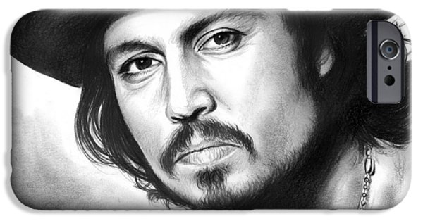 Johnny Depp IPhone 6s Case by Greg Joens